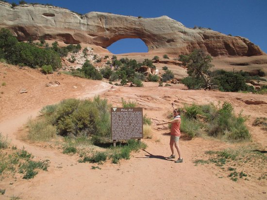 The Gonzo Inn: That's me at Wilson Arch, where we toured while guests at Gonzo Inn.