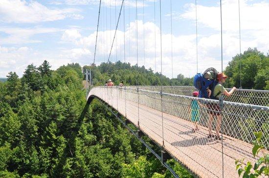Parc de la Gorge de Coaticook: THE bridge... the longuest in North America
