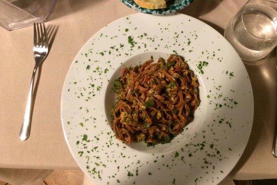 Beet pasta at Il Vezzo.