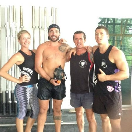 Unit 27 Total Conditioning & CrossFit Gym: me with Haley, Rob and Evan.. part of the Team