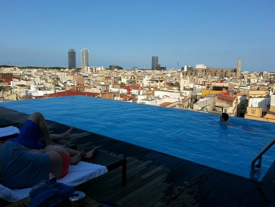 Hotel infinity pool  Roof Top Infinity Pool - Picture of Grand Hotel Central, Barcelona ...