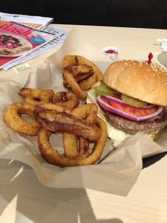 Old New York Bagel & Deli Company : Greasy Onion Rings