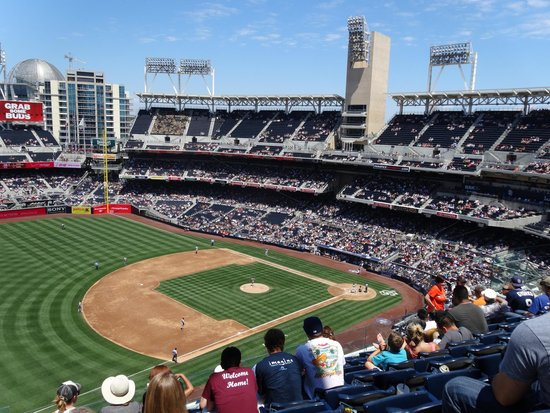 Petco Park: view from seats in UR320 row 10