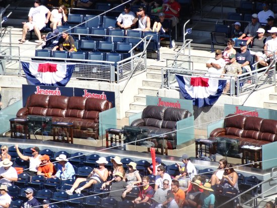 Petco Park: strange lounge chairs within stadium seats