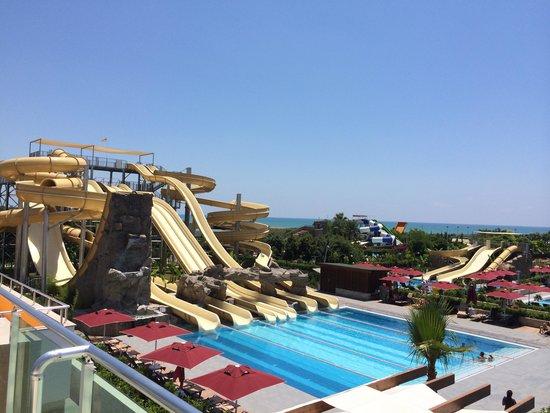 pool and water slids view picture of aska lara resort spa