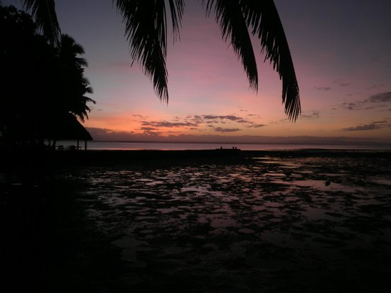 Toberua Island Resort : Sunset on Toberua