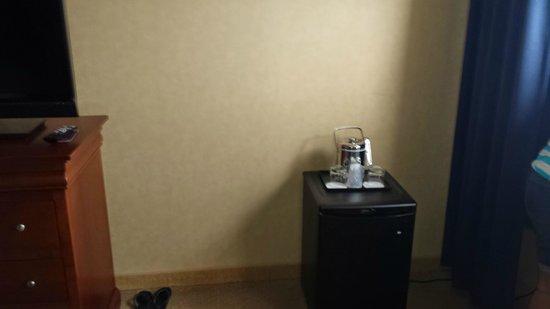 Sheraton Bucks County Hotel: mini fridge