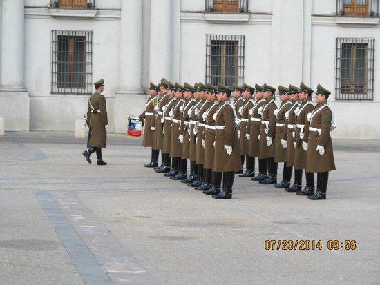 Plaza de la Constitucion : Troca da guarda