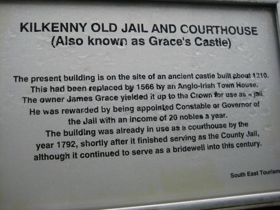 Kilkenny Old Jail and Courthouse: Sign