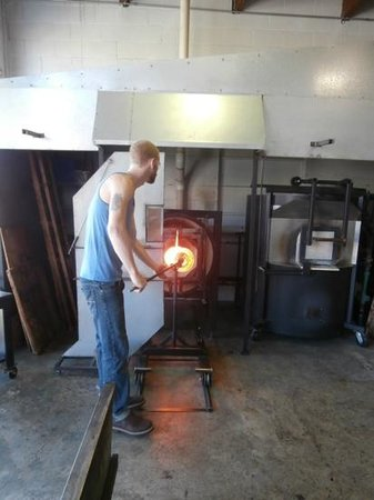 Tacoma Glassblowing Studio: Brian, our instructor.
