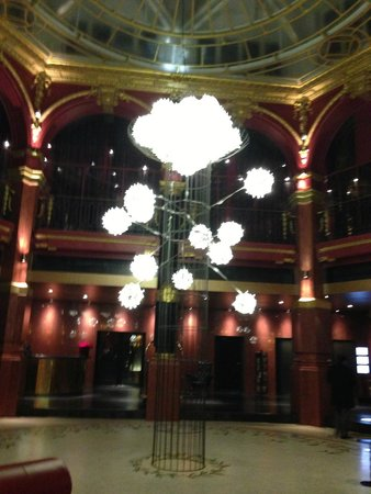 Gorgeous lobby at Hotel Banke
