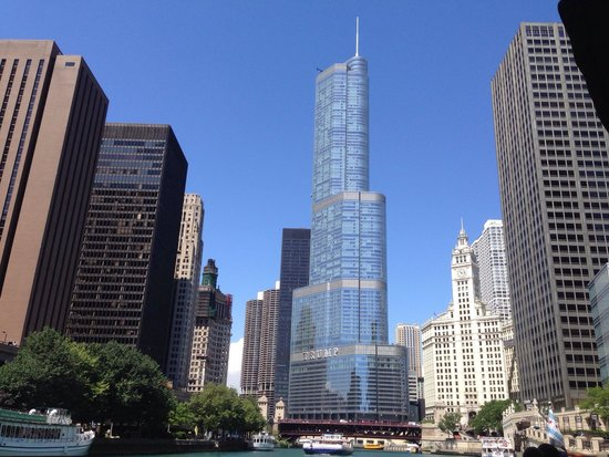 Chicago's First Lady Cruises: View of Trump Tower from the boat!