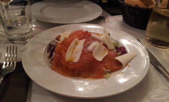 Osteria Leon Bianco : Entrada de salmón