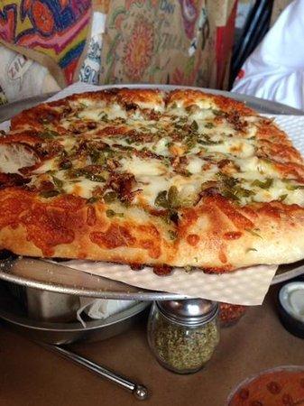 Zola's Pizzeria: jalapeno bread sticks, looks like pizza