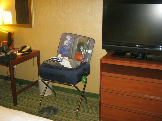 Hampton Inn & Suites Denver Downtown : TV and part of room