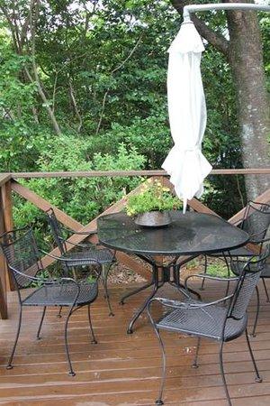 Auberge Meson: テラスのテーブル