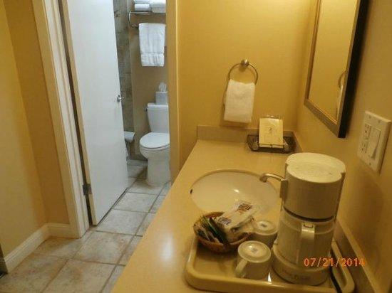 Stanford Terrace Inn: bathroom area