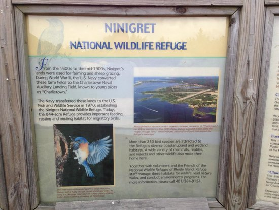 Ninigret National Wildlife Refuge and Kettle Pond Visitors Center: Area Description Sign