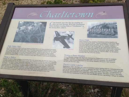 Ninigret National Wildlife Refuge and Kettle Pond Visitors Center: Navy Charlietown Sign
