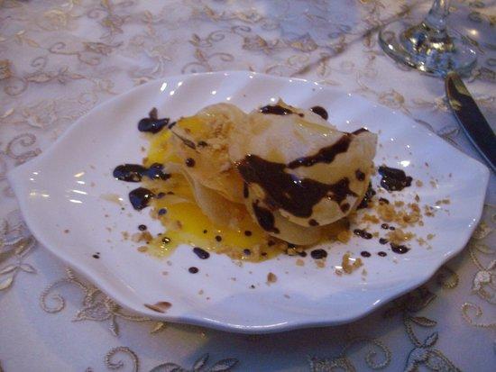 Palais Sebban: Orange Pastilla dessert