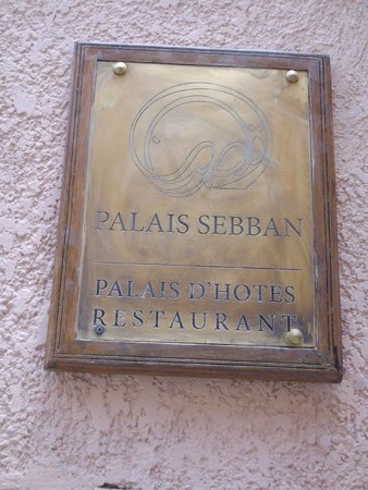Palais Sebban Entrance Sign