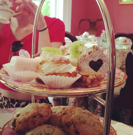 The Potted Geranium Tea Parlor & Gifts: tea service petit fours and scones