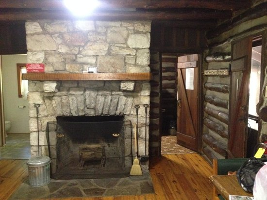 Cacapon Resort State Park: Fireplace & Kitchen entrance