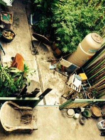 Baan Tepa: looking down on courtyard