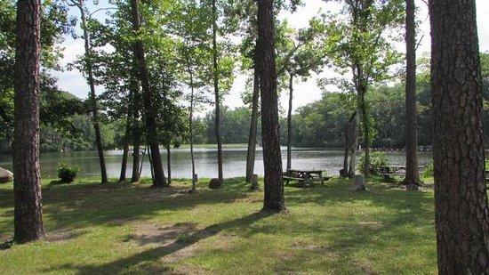 Cacapon Resort State Park: View of first lake from picnic area