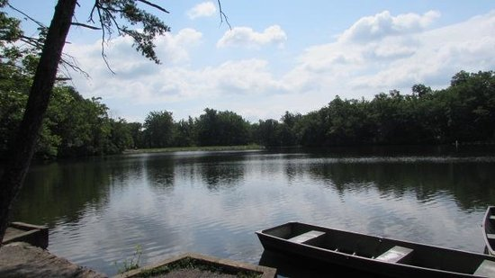 Cacapon Resort State Park : View of first lake from picnic area