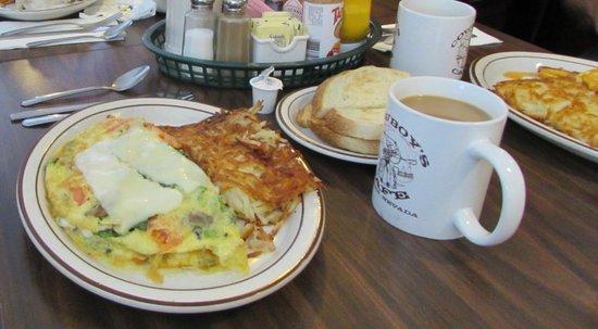 Cowboys Cafe: Veggie omlette
