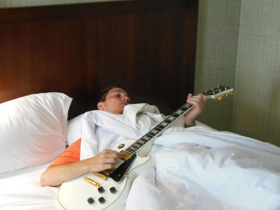 The Westin Memphis Beale Street: your kids can play them self to sleep!
