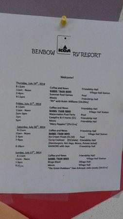 Benbow KOA: Daily Activies