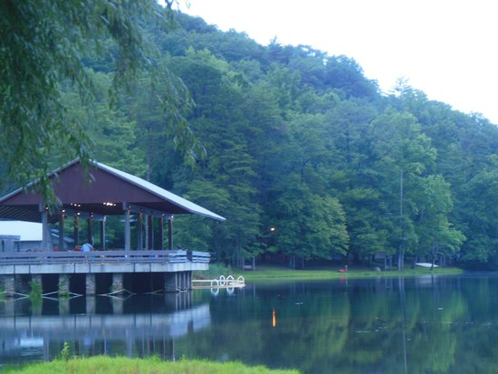 Vogel State Park: Music is played under this roof