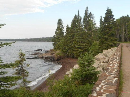 Minnesota's North Shore Scenic Drive: View of Lake Superior from the drive