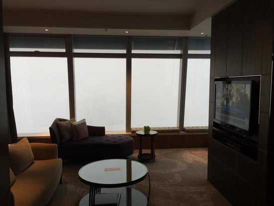 The Ritz-Carlton, Hong Kong : 112 floor. So high it's covered in clouds.