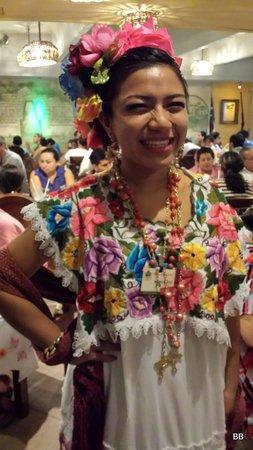 La Chaya Maya: recepcionista, pura simpatia.