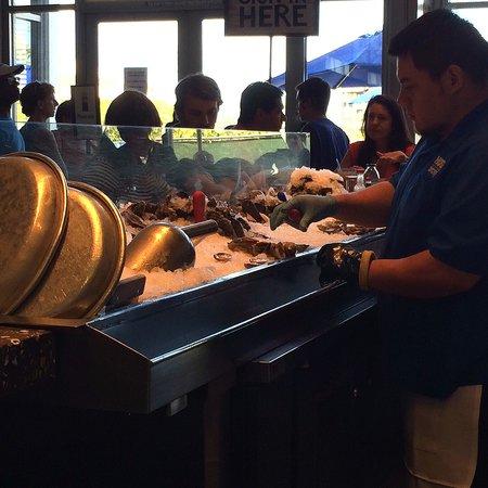 Hog Island Oyster Company: Oyster shuckers