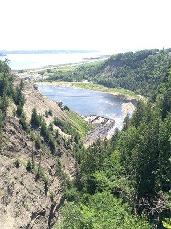 Parc de la Chute-Montmorency: Esta es la vista del otro lado de las cascadas