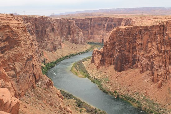 Colorado River Discovery : Before the float trip, looking down at the Colorado River that we would soon explore.