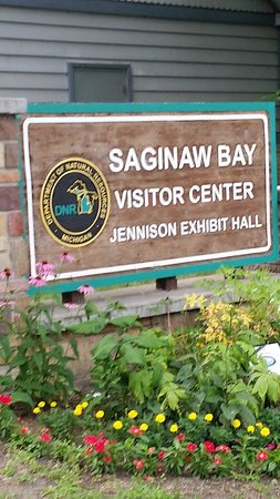 Bay City State Recreation Area: sign at visitor center