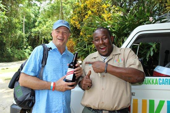 Chukka Caribbean Adventures : Red Stripe for the winner!