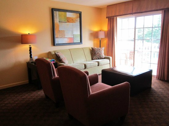 The Colonies at Williamsburg Resort : Living room area with pull out couch