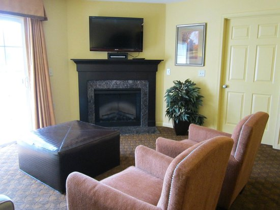 The Colonies at Williamsburg Resort : Living room / fireplace