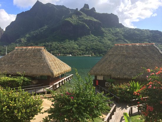 Club Bali Hai Moorea Hotel : View of Cooks Bay from Bay view Studio Room
