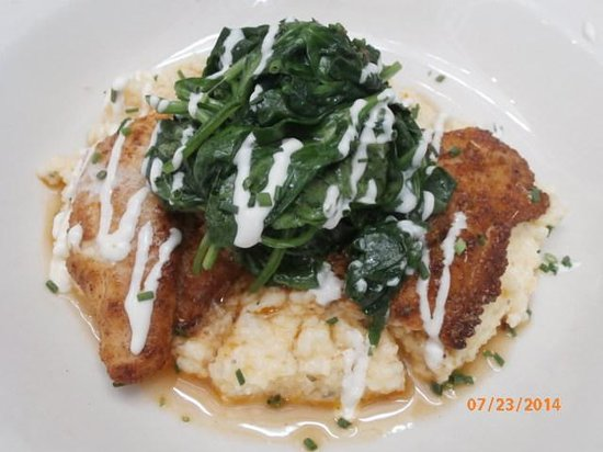 fish/polenta/spinach - Picture of MacArthur Park, Palo Alto
