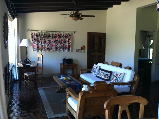 Rancho La Puerta Spa: Living Space in our Villa