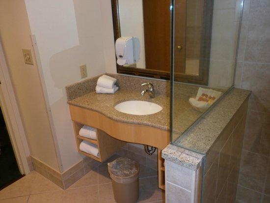 Bavarian Inn Lodge: Bathroom vanity