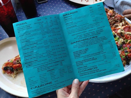 Memphis Pizza Cafe: menu