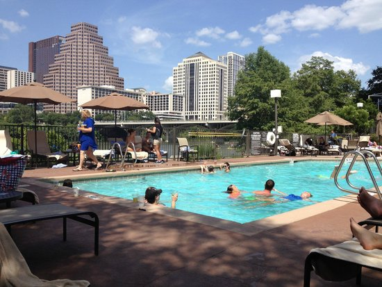 Hyatt Regency Austin: pool, lake, downtown skyline